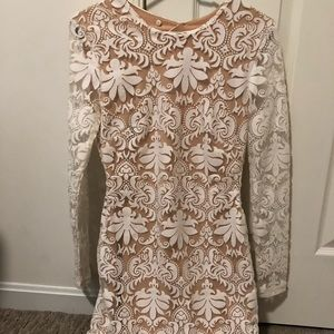 H&M Nude lace dress